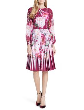 esperan-serenity-contrast-pleated-skirt-dress by ted-baker-london
