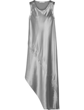 asymmetric-paneled-silk-satin-midi-dress by helmut-lang