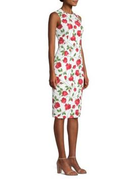 rose-print-sheath by michael-kors-collection
