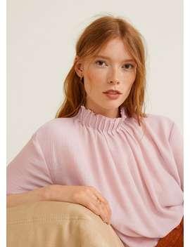 turtleneck-blouse by mango