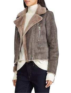faux-shearling-moto-jacket by lauren-ralph-lauren
