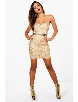 boutique-embroidered-bodycon-dress by boohoo