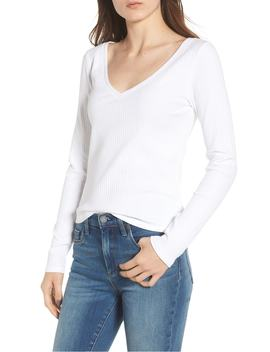 ribbed-v-neck-tee by bp