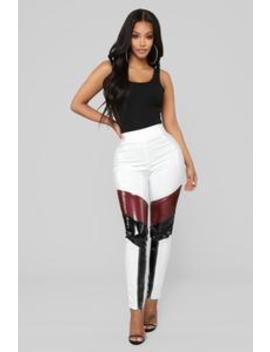 danica-colorblock-pants---white-combo by fashion-nova