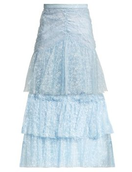 tiered-ruffled-lace-midi-skirt by rodarte