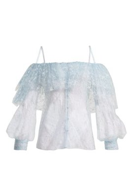 off-the-shoulder-lace-and-tulle-top by rodarte