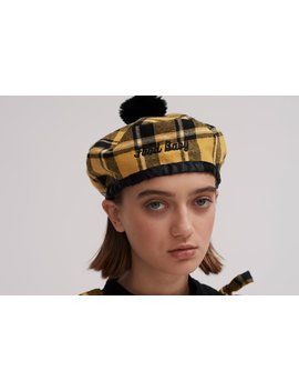 lazy-oaf-food-baby-check-beret by lazy-oaf