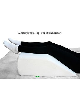 post-surgery-elevating-leg-rest-pillow-with-memory-foam-top---best-for-back,-hip-and-knee-pain-relief,-foot-and-ankle-injury-and-recovery-wedge---breathable by cushy-form