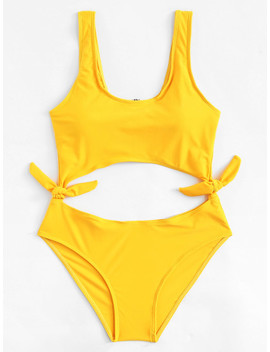 cut-out-knot-swimsuit by shein