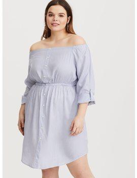 light-blue-&-white-stripe-shirt-dress by torrid