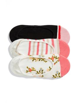 3-pack-mini-bloom-no-show-socks by kate-spade-new-york