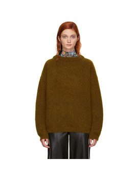 brown-wool-dramatic-sweater by acne-studios
