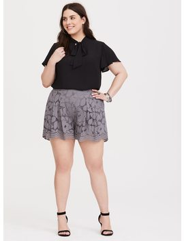 grey-floral-lace-short by torrid