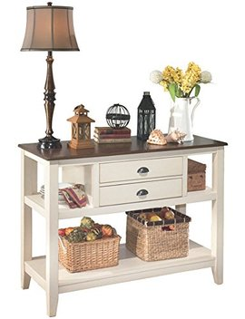 ashley-furniture-signature-design---whitesburg-dining-room-server---2-drawers-and-2-cubbies---vintage-casual---brown_cottage-white by signature-design-by-ashley