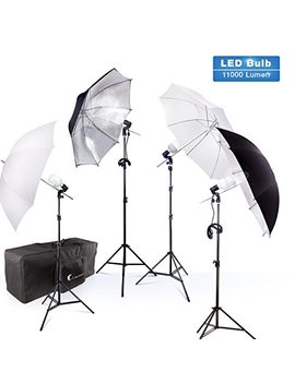 photography-photo-portrait-studio-800w-led-bulbs-day-light-black-and-white-umbrella-continuous-lighting-kit-by-limostudio,-agg2754 by limostudio
