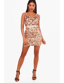 strappy-sequin-bodycon-dress by boohoo