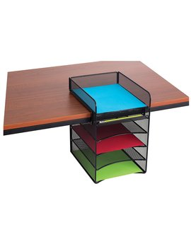 safco-products-3240bl-onyx-mesh-horizontal-hanging-desk-storage,-black by safco-products