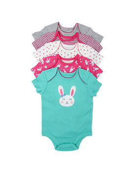 members-mark-girls-bunny-5-pack-short-sleeve-bodysuits by members-mark