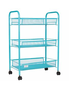 3-tier-utility-cart,-kitchen-storage-with-rolling-wheels,-metal-mesh-wire-basket-trolley,-apple-green by 25-home-decor