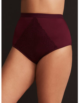 lace-center-microfiber-high-waist-panty by torrid