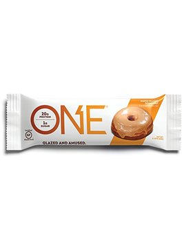 one-protein-bar,-maple-glazed-doughnut,-12-pack,-gluten-free-protein-bar-with-high-protein-(20g)-and-low-sugar-(1g),-guilt-free-snacking-for-healthy-diets by one