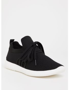 black-nylon-mesh-sneaker-(wide-width) by torrid