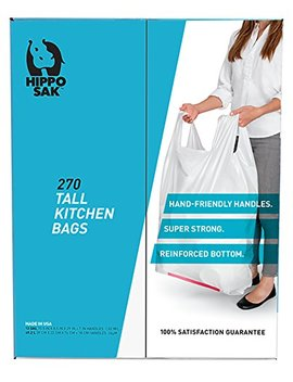 handle-trash-bag,-hippo-sak-with-power-strip,-13-gallon-tall-kitchen,-270-count by hippo-sak