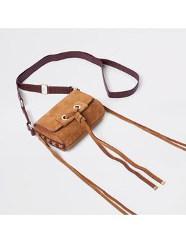 beige-mini-leather-knot-cross-body-bag by river-island