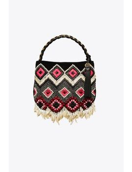Brooke Embellished Small Hobo by Tory Burch