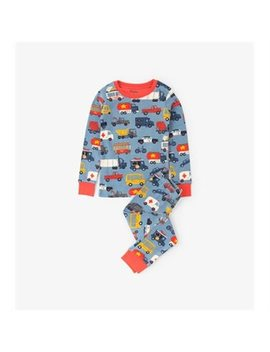 hatley-kids-long-sleeve-pj-set,-rush-hour-size-6 by hatley