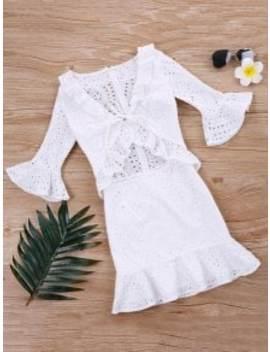 flounce-ruffle-eyelet-dress---white-l by zaful