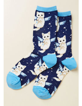 Purr Fect Angel Socks by Modcloth
