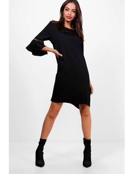 sleeve-detail-shift-dress by boohoo