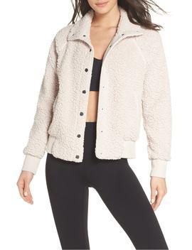 cozy-up-bomber-jacket by zella