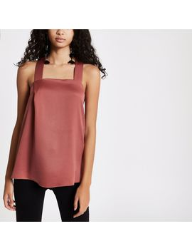 pink-tie-back-cami-top by river-island