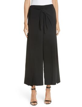 amherst-tie-front-crop-wide-leg-pants by alc