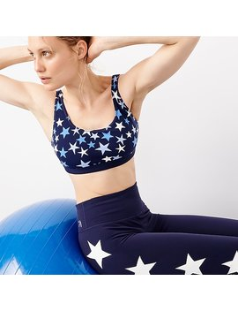 new-balance®-for-jcrew-performance-scoopneck-sports-bra-in-stars by new-balance