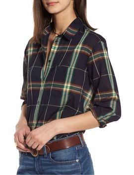 oversize-ex-boyfriend-plaid-shirt by madewell