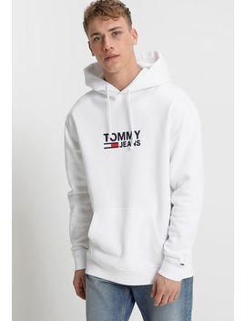 corp-logo-hoodie---felpa-con-cappuccio by tommy-jeans