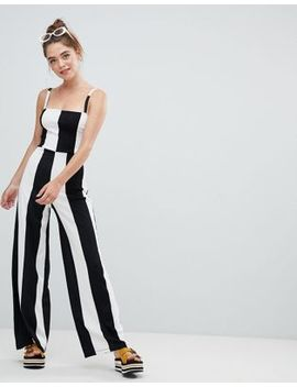 bershka-wide-stripe-jumpsuit-in-mono by bershka