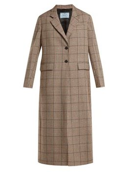 single-breasted-houndstooth-wool-blend-coat by prada