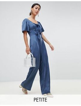 lost-ink-petite-jumpsuit-with-scoop-neck-and-bow-front by lost-ink