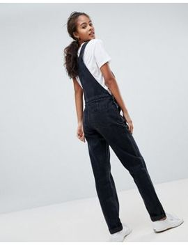 asos-design-tall-denim-dungaree-in-washed-black by asos-design