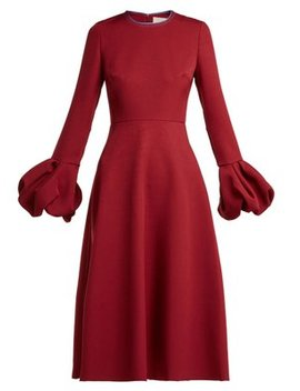 aylin-bell-sleeve-cady-dress by roksanda