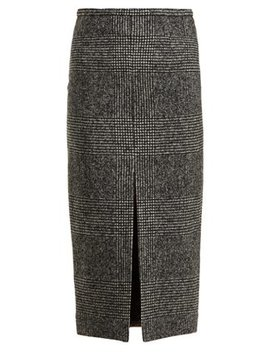 check-wool-blend-pencil-skirt by rochas