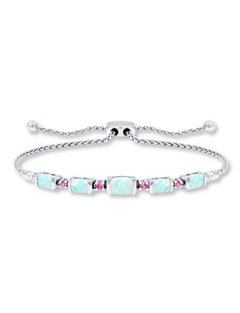 bolo-bracelet-lab-created-opal-&-sapphire-sterling-silver by kay-jewelers