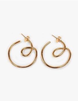 swirl-hoop-earrings by pixie-market
