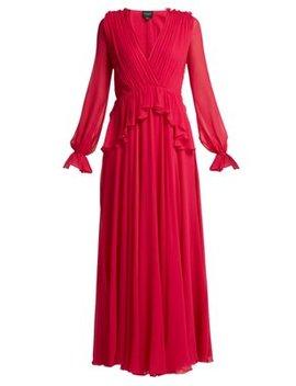 gathered-silk-chiffon-gown by giambattista-valli