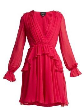 ruffled-silk-chiffon-mini-dress by giambattista-valli