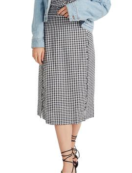 gingham-pencil-skirt by madewell